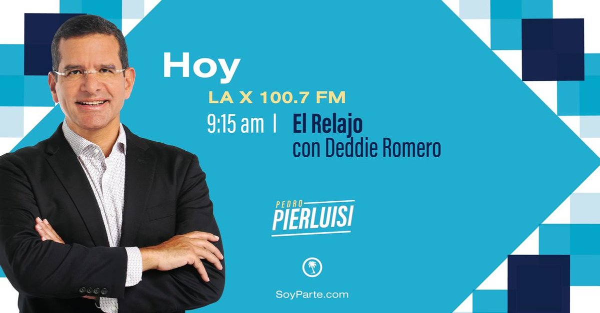 ¡Buenos días! Esta mañana estaré en entrevista en @ElRelajoLax @laxpr, 100.7FM, junto a @deddieromeropr y @redshadowpr. ¡Acompáñanos, no te lo pierdas! https://t.co/1K4rc8ANPk