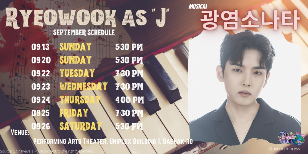 It's the Last day of the musical tomorrow everyone!  Who's watching???  Mayor ano na?? I promise I won't talk about #Joochan and just mention you nalang 🤣🤣🤣  J!!!  #RYEOWOOK  #려욱버블 #김려욱 #광염소나타 #RyeowookAsJ #SUPERJUNIOR  @SJofficial https://t.co/1ZOOJIvebq https://t.co/UxWX5COVsL