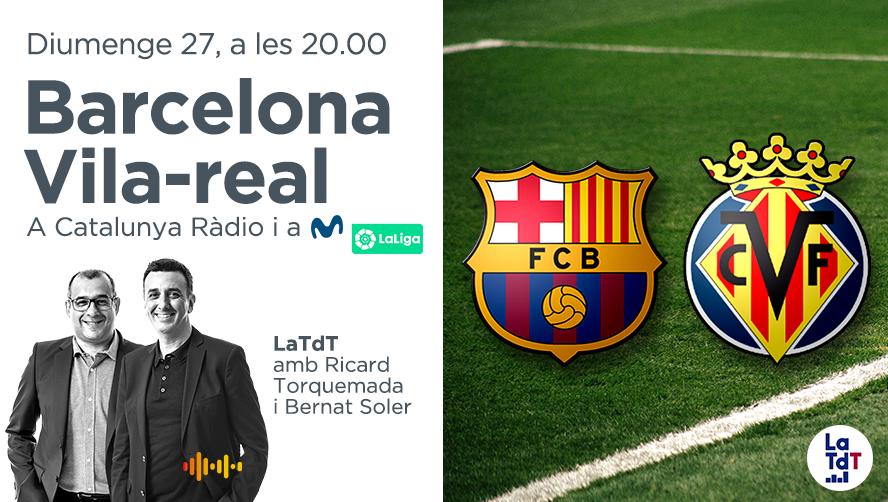 🔴 AVUI JUGA EL BARÇA, AVUI HI HA @LaTdT   Des de les 20 h, @LaTdT del Barça - Vila-Real  ⚠ Avui no fem @ClubMitjanit però l'anàlisi més profund del partit el continuareu trobant a @CatalunyaRadio   Segueix el partit en directe, aquí 👉 https://t.co/12NfkaxAoZ https://t.co/9M8c3X5kjY
