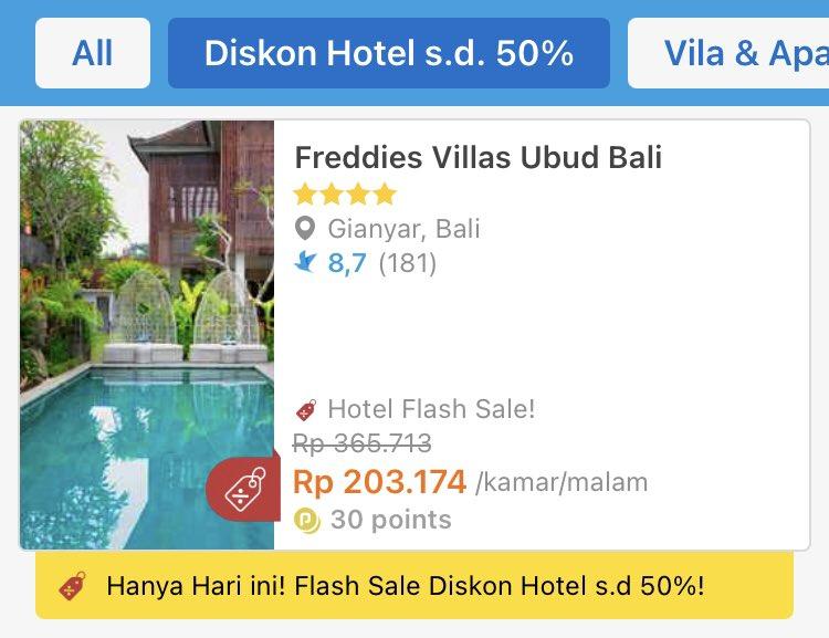Traveloka Indonesia On Twitter Freddies Villas Ubud Bali Mulai 200 Ribu