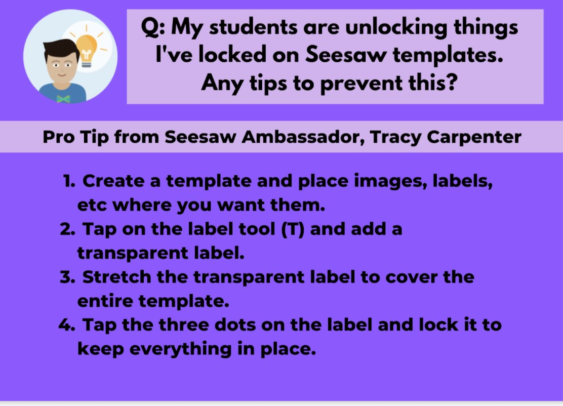 Seesaw PRO TIP!   Thank you to one of our Seesaw Ambassadors, Tracy Carpenter for this awesome tip!   Watch Tracy's video for step-by-step instructions: https://t.co/llYfcTvQ0C https://t.co/o8Yz4Yj9oA