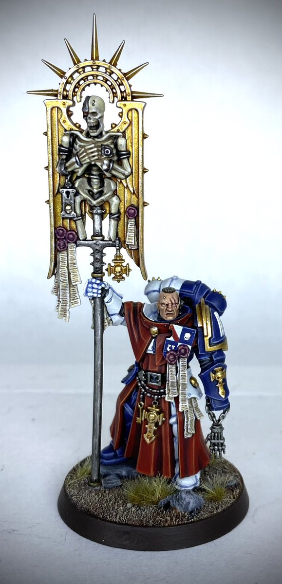 Sons of Guilliman Bladeguard Ancient finished been wanting to use this head for something for a while, felt like the right choice #spacemarines #primarismarines #indomitus #indomituscrusade #warhammer40000 #sonsofguilliman #paintingwarhammer #warhammercommunity https://t.co/gAY8oSyVyf