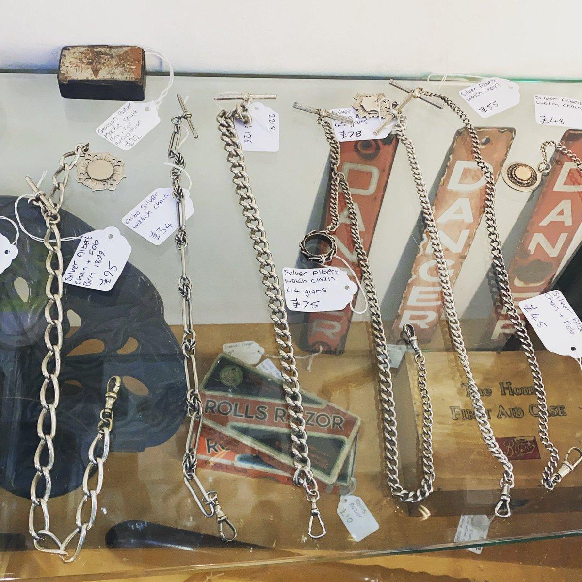 Silver Albert chains #watchfob #silver #albertchains #birmingham #silveralbertchain #astraantiquescentre #hemswell #lincolnshire https://t.co/VMQM1tSaEG