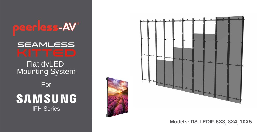 Peerless-AV offers dedicated dvLED Video Wall Mounts for @Samsung IFH/-E Series Direct View LED Displays.  Read the Samsung KX case study: https://t.co/AoP4ppDbOs & find out more about our Samsung dedicated mounts here: https://t.co/esvYvlWSZj  #avtweeps #dvled https://t.co/123yrsDZVy