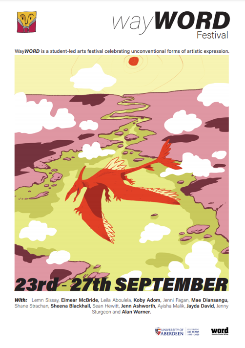 The WayWORD festival is currently underway! Brought to you by the University of Aberdeen's WORD Centre for Creative Writing, this festival is a celebration of unconventional forms of artistic expression! Find out more here: https://t.co/TY4DkaTrQJ    #natureonourdoorstep https://t.co/pDni0KmhyV
