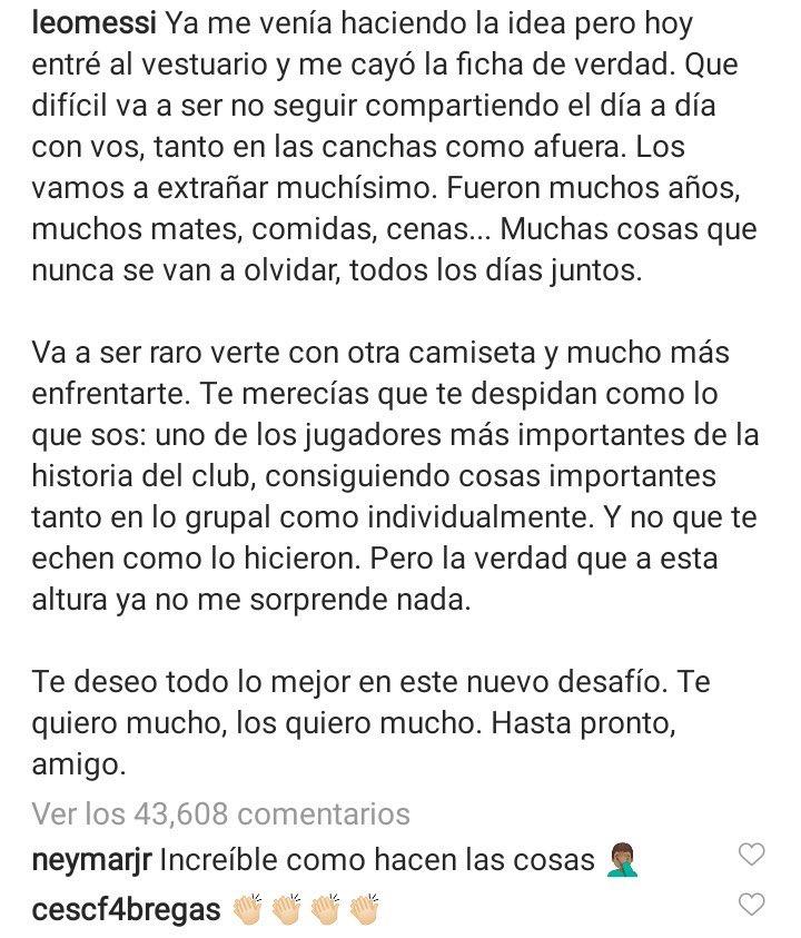 Se unen Neymar y Fábregas. https://t.co/DJqZzcrVKI