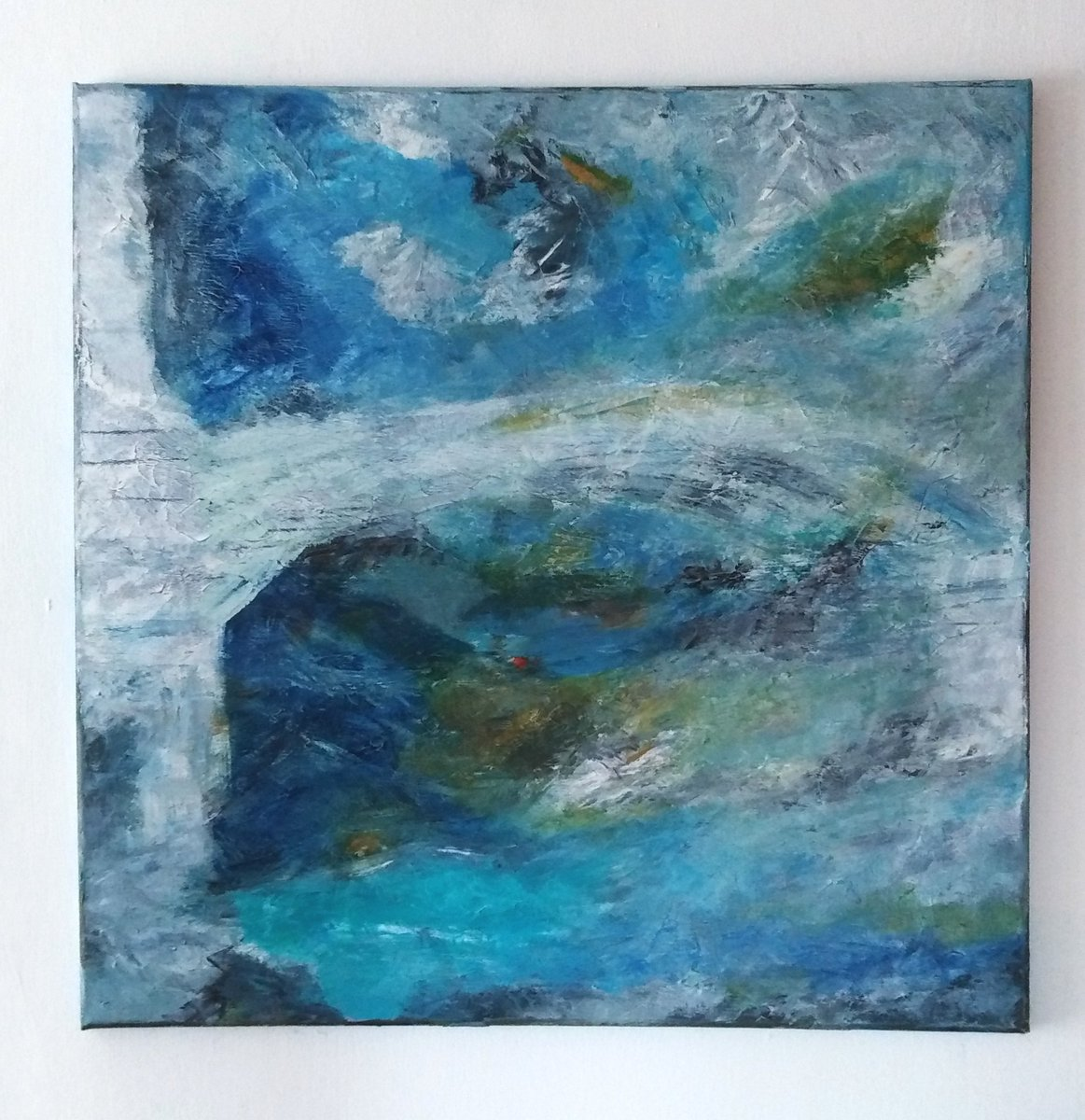 Water Under the Bridge - Oil on Box Canvas 60cm x 60cm #art #artwork  #abstractpainting #abstract #artist #oilpainting #stives #london #cornwall #modernart #contemporaryart #landscape #seascape #bridge #twitart #artistsontwitter #artgallery https://t.co/gYVyvlDw6H