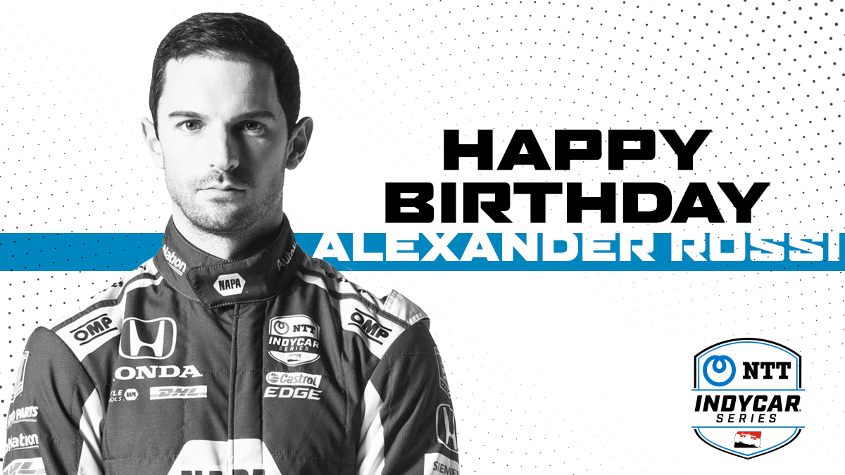Happy Birthday @AlexanderRossi. Next week, you bring the win, we'll bring the champagne.  #INDYCAR https://t.co/e5rYJY5Mx8