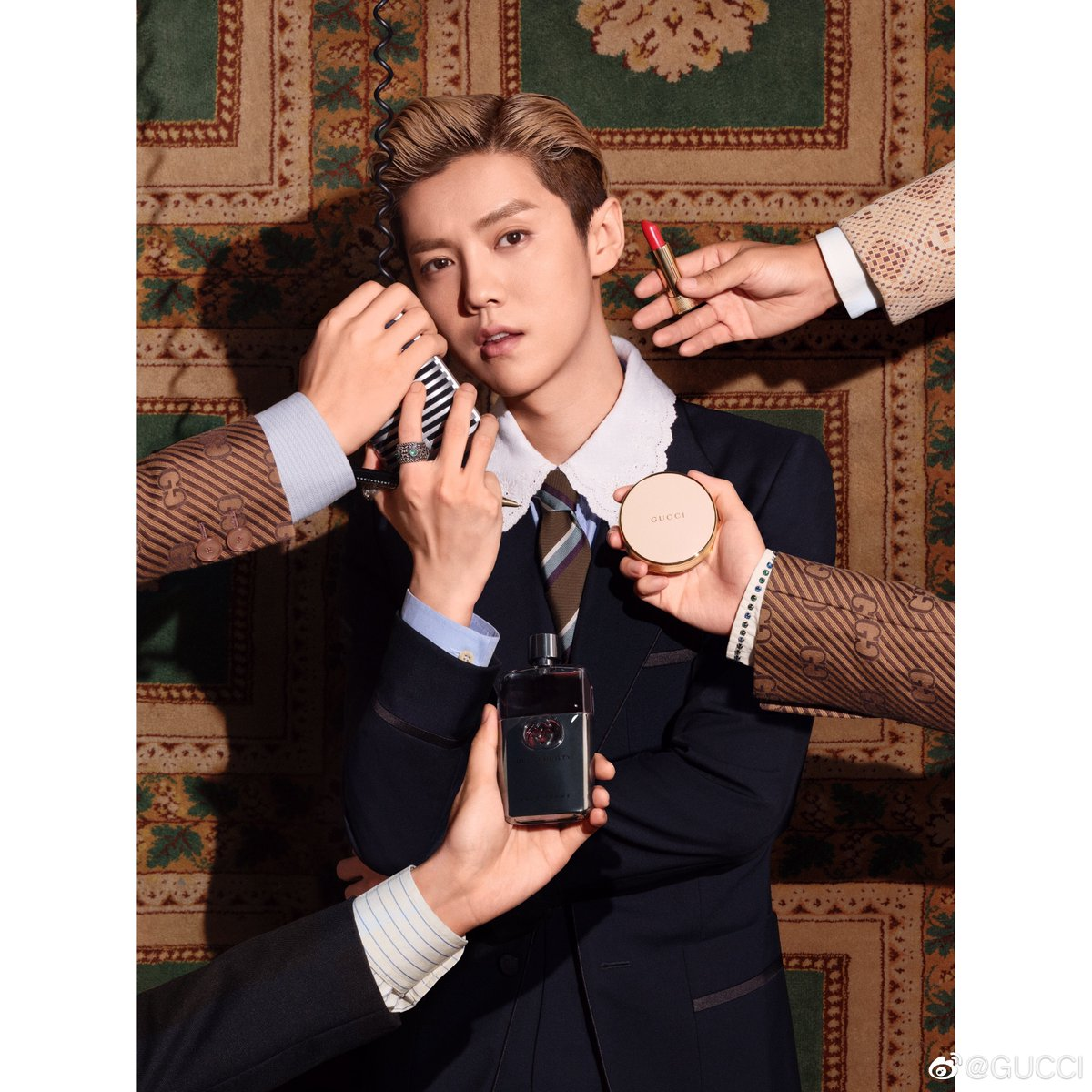 #LuHan just announced as spokesperson for Gucci! 🎉  #鹿晗 https://t.co/1bumCVgO26
