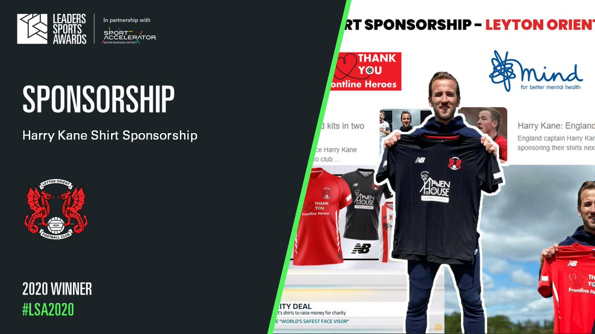 🏆 On a more positive note, the club has been named as a winner of the Leaders in Sport Awards! Our front of shirt sponsorship with Harry Kane was named a winner in the Sponsorship category! Read more on the campaign here: bit.ly/33XLsbg #LOFC #LSA2020 @LeadersBiz