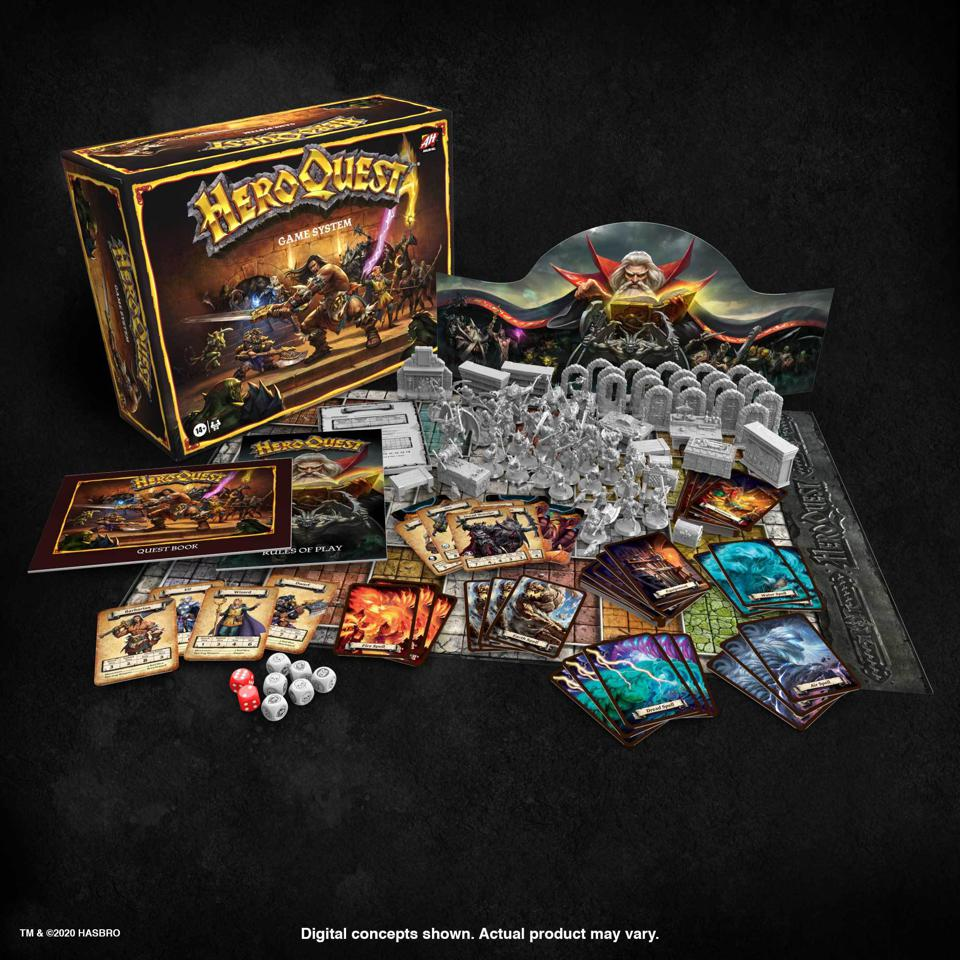 """🧙♂️ In the #80s was #HeroQuest by #MiltonBradley and #GamesWorkshop.  🛡 #Hasbro is bringing it back! ⚔️ #Preorder the base game from #HasbroPulse for $100 or...  🧝♀️ The Mythic Tier also offers: """"Return of the Witch Lord"""" and """"Kellar's Keep"""" for $150. 🗡 https://t.co/zhRaXTYmSL https://t.co/N52MkmfPth"""