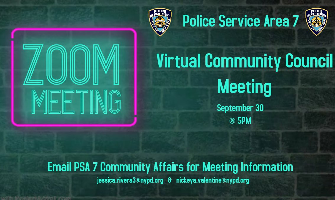 Join us next week, Wednesday, September 30 at 5:00pm for our Virtual Community Council Meeting. Please email our Community Affairs Officers for login information! https://t.co/I2o6emaiL0