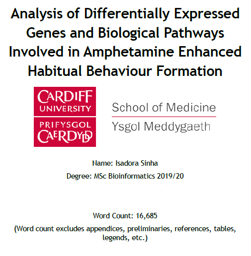 After months of hard work and dedicated effort, I have finally submitted my @MScBioinformat thesis! @cardiffuni @ProfAntIsles #bioinformatics #genetics #neurology #MSc #dissertation #research https://t.co/C5bsGb3ACV