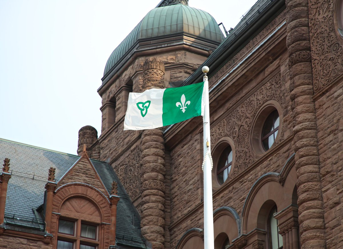 Today is Franco-Ontarian Day! The official flag of Ontarios French-speaking community is now recognized as an emblem of Ontario with a new piece of legislation. Learn more: ola.org/en/visit-learn…