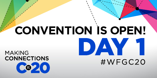 The moment we've all been waiting for is here! Grab some snacks 🍿, make sure you have a notepad 📓, check your internet connection 💻 and log in for C20. Instead of gathering in one place, we're tuning in across North America this year! Where are you watching convention? #WFGC20 https://t.co/jad3mjJgQD