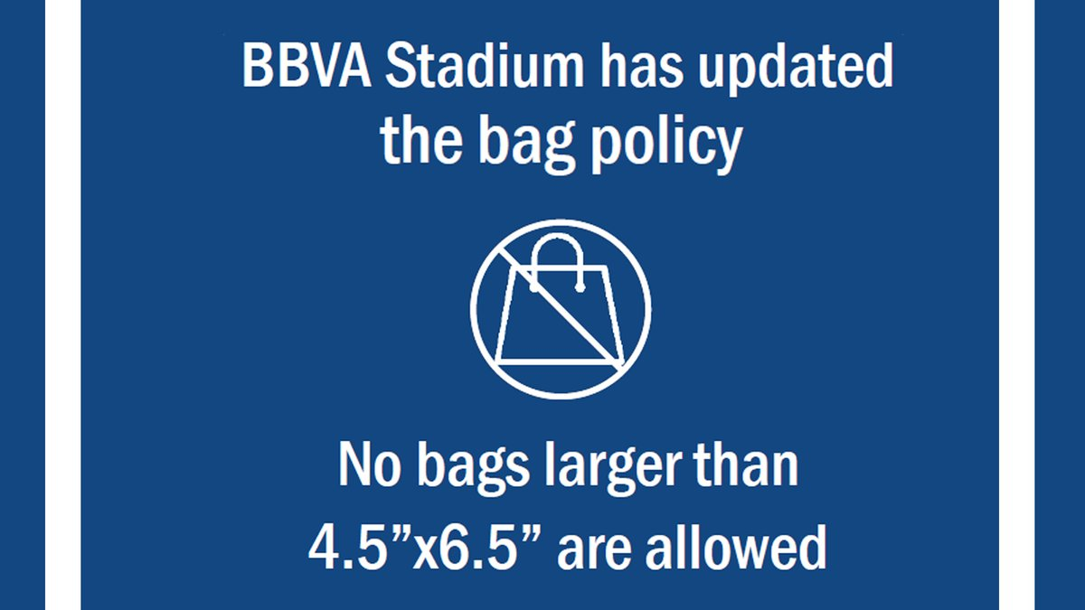 𝐑𝐞𝐦𝐢𝐧𝐝𝐞𝐫: Our new 👜 policy will be implemented at tomorrow nights @HoustonDash game. 🏟 See Safety Guidelines: bit.ly/3c8Sb5K