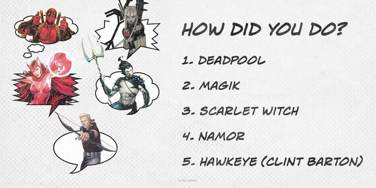 Marvel Insiders, answer more questions and earn #MarvelInsider points here: bit.ly/33ZfPhl
