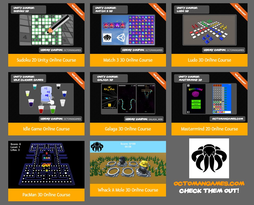 LEARN how to create Games with #Unity It's time to bring your skills to the next Level today! I offer over 10 full Courses! https://t.co/7HHg03ozqe #madewithUnity #indiedev #gamedev #screenshotsaturday https://t.co/QdIH1Zy5X6
