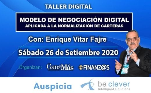 """Falta poco para el Taller Virtual: """"Modelo de Negociación Digital"""" con Enrique Vitar Fajre.  Informate en https://t.co/SwozWoQVDU  #BeClever #Fintech #MotorDecisiones #Software #Préstamos #Tarjetas #Crédito #SoftwareAR #BancaDigital #InclusionFinanciera #tranformaciondigital https://t.co/A6MBX3L28N"""