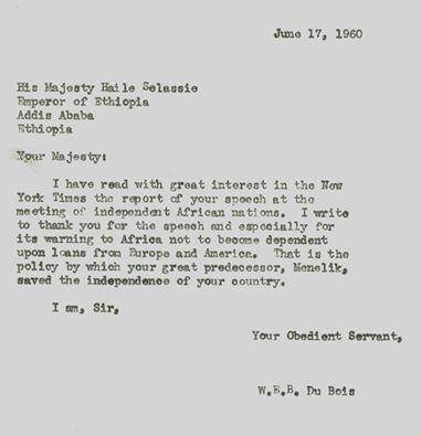 W.E DuBois' letter to HIM HSI https://t.co/HjieHK8IFc