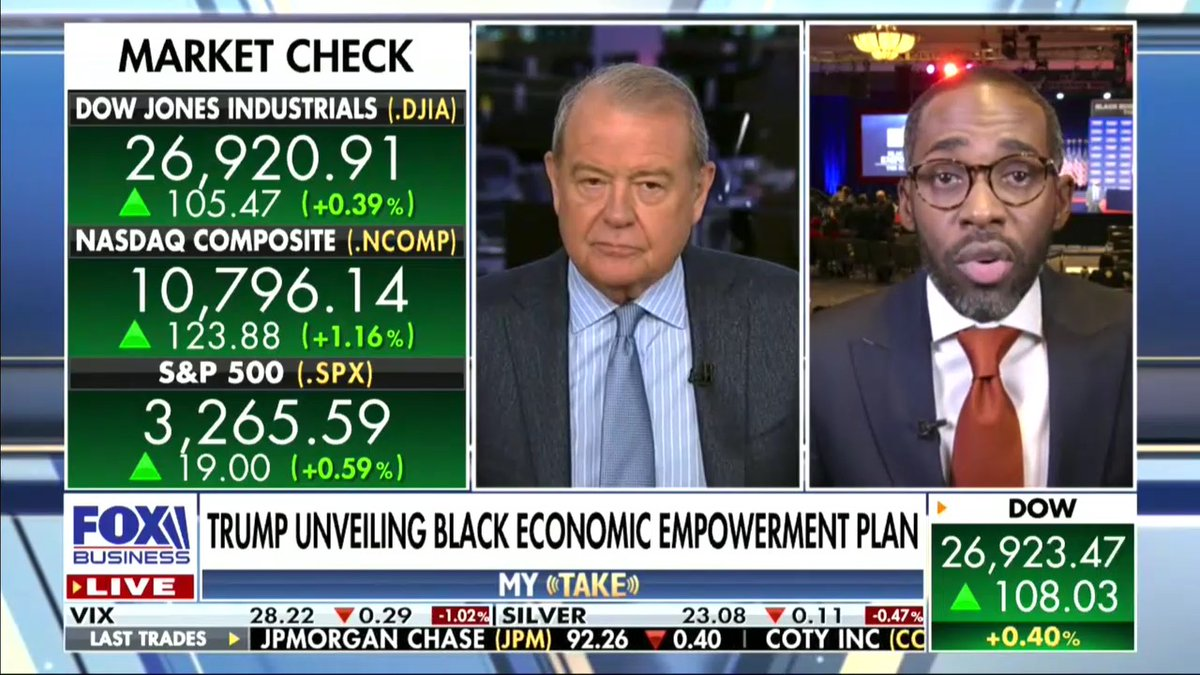 """""""When you talk about Black empowerment, this President is talking about doing things to give access to capital to Black communities to the tune of $500 billion. This is something that is unprecedented."""" -@PARISDENNARD https://t.co/N7gkoCCIYz"""