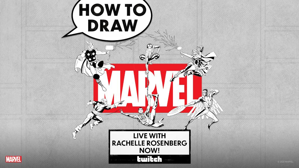 Join colorist Rachelle Rosenberg (@rachellecheri) as she brings the color to our special #NationalComicBookDay livestream! 🎨: Twitch.tv/Marvel