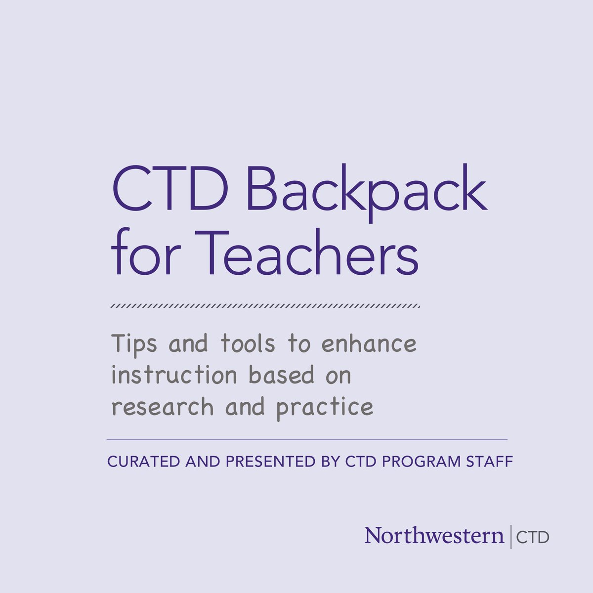 Join CTD Backpack for Teachers, a resource created by CTD consisting of on-demand webinars and live virtual applied practice sessions that provide teachers with tips, best practices, and easy to use materials. Register or learn more at https://t.co/pRfFFPVomb. https://t.co/r3TA4JzBsg