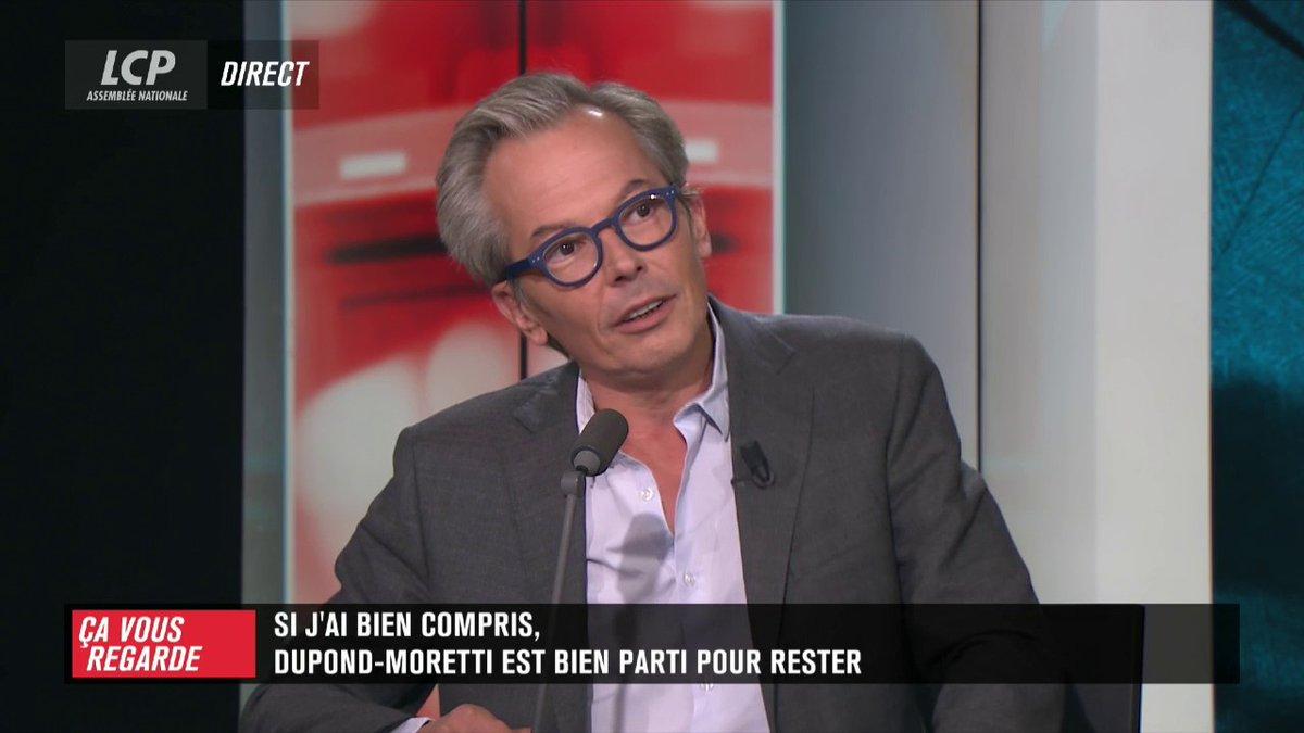 """""""Si j'ai bien compris"""", ou le regard de Stéphane Blakowski sur l'actualité. > Si j'ai bien compris, Éric Dupond-Moretti est bien parti pour rester. #CVR https://t.co/9MWdtM8rIH"""