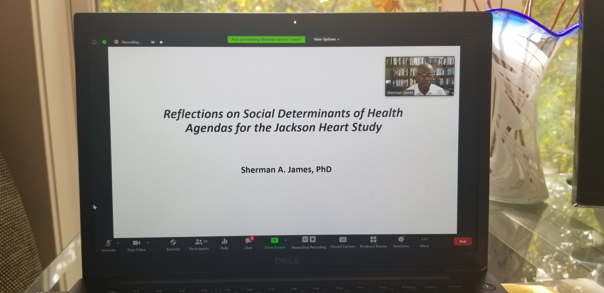 We have a GIANT of a Social Epidemiologist on our @JHS_HeartStudy SDOH Working Group call today! Thank you, Dr. Sherman James for sharing your wisdom! #BlackEpiMatters https://t.co/sfpT7nnFnk