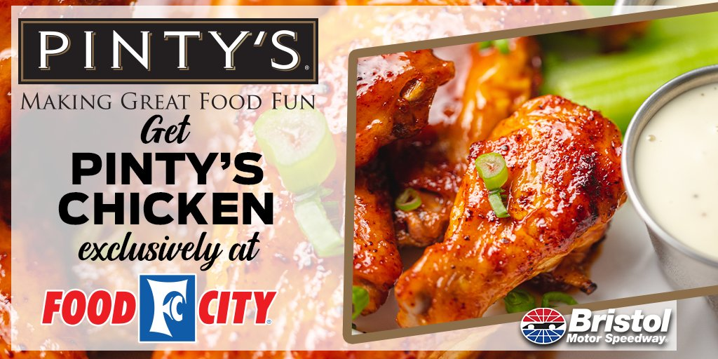 Friendly reminder to add Pintys chicken - exclusively sold at Food City - to your grocery list today. #ItsBristolBaby
