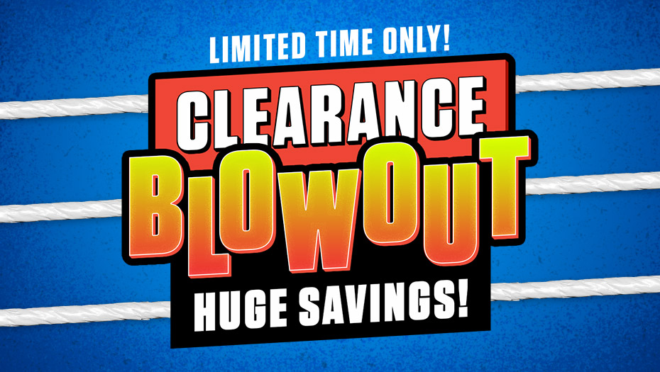 HUGE SAVINGS!! Head over to #WWEShop and enjoy the Clearance Blowout happening right now! Limited Time Only! #WWE  https://t.co/nuCeoQrzB7 https://t.co/Cmm6TjMQRB