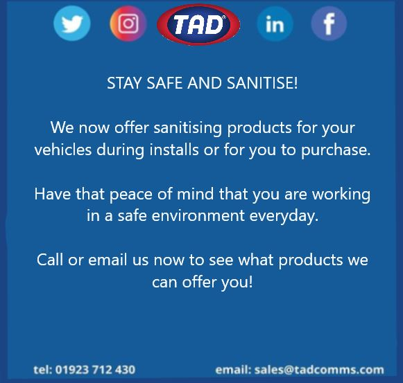 test Twitter Media - We now offer a sanitising mist machine and sanitising spray! Give yourself that peace of mind you are being safe everyday! Call or email us now! #TAD #tadcommunications #COVID19 #sanitise #safe https://t.co/6Srmo46ZAc