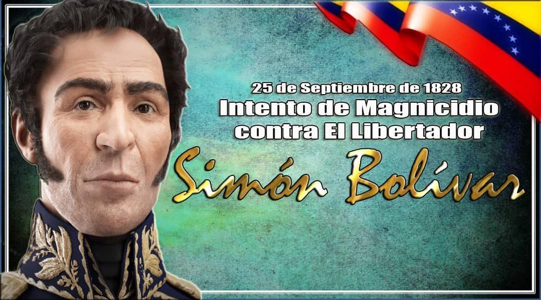 El #25sep de 1828 debe recordar a los bolivarianos ¡Cuán bajo pueden caer las facciones oligárquicas a razón de su desespero e ineptitud! Un día como hoy trataron de asesinar a su Libertador. La FANB, hoy está consciente de los peligros que representan estos viles traidores. https://t.co/b6XFtuBQIl