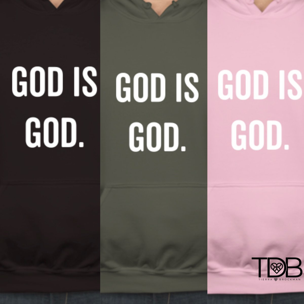 Today's the big day! 😭🙌🏾 Which one did you order?  🖤💗💚😁  Our Hoodies are officially be available!💃🏾  Order yours Now at https://t.co/rAMqO7IyPa  #SoExcited #HappyFriday #NewMerch #Hoodie #GodisGod #TierraB #JesusGirl #GetYours https://t.co/ojq5MbbaKE