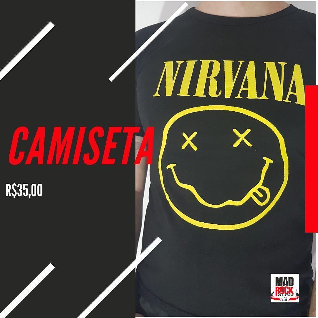 Camiseta do Nirvana em malha 100% algodão, fio 30, com estampa em silk screen, da Black Dog.  #ficaemcasa #delivery #deliverymadrock #madrockstore #rock #heavymetal #sãoluis #maranhao https://t.co/vx6zebx0i4