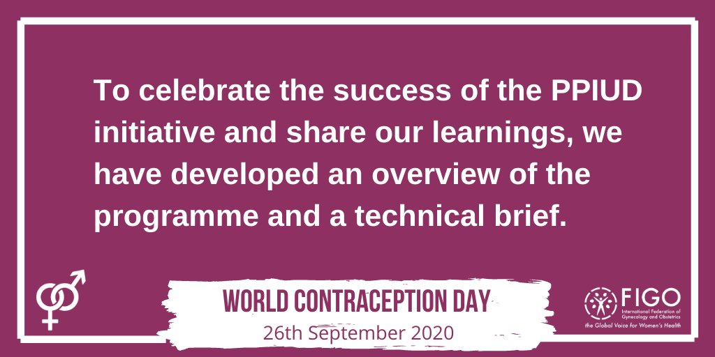 Learn more about the programme and how you can integrate PPIUD and PPFP services into maternity care.  Project brief: https://t.co/2ABICodNMw  Technical brief: https://t.co/IvzZ2WYDzs  #familyplanning #WCD2020 #contraception https://t.co/SljLPcK6Fs