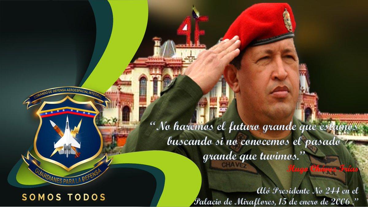 🔴Contribuyendo con la divulgación del pensamiento geopolìtico y estratégico del Líder de la Revolución Bolivariana, Cmdte. Hugo Chàvez, @CODAI_FANB trae a la memoria de la Patria, parte del legado de este soldado y hombre del pueblo que supo conquistar el corazón de la Patria. https://t.co/xcX6u43cD4