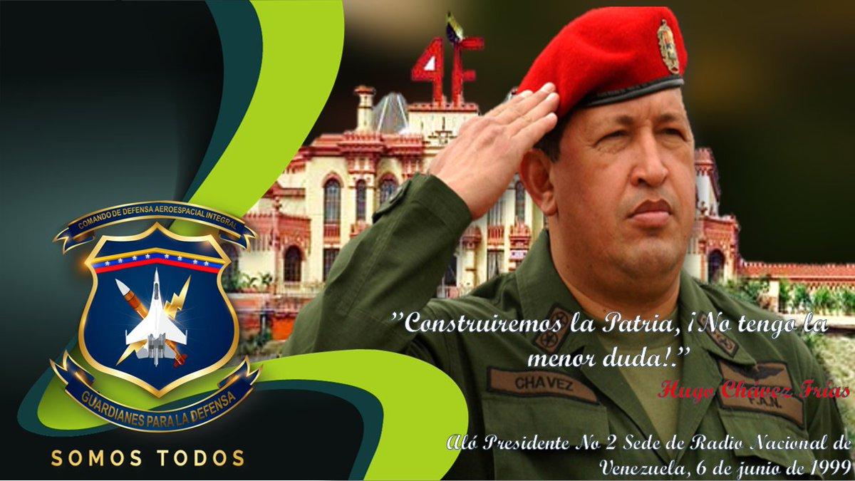 🔴Contribuyendo con la divulgación del pensamiento geopolìtico y estratégico del Líder de la Revolución Bolivariana, Cmdte. Hugo Chàvez, @CODAI_FANB trae a la memoria de la Patria, parte del legado de este soldado y hombre del pueblo que supo conquistar el corazón de la Patria. https://t.co/wEu2ZmMR88