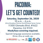Image for the Tweet beginning: Pacoima: Let's get counted! September