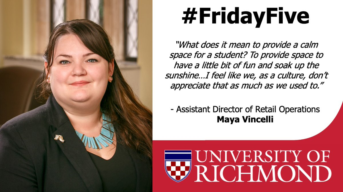 Today's #FridayFive highlights @URDining in honor of National Food Service Worker Appreciation Day. Dining Services always keeps #URichmond options fun. @foodmanagement interviewed Asst. Director of Retail Operations Maya Vincelli a/b campus pop-up bars.  https://t.co/dCGoFSN2vj https://t.co/jE1zukbSbl