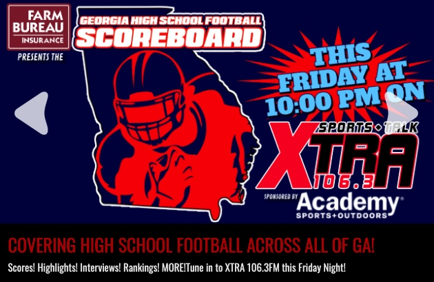 Tune-in Georgia HS Scoreboard Show @GAFarmBureau for scores, game reports, ranking & much more!  Live 10p-Mid. @Xtra1063, statewide radio affiliate & online.  Download the app!  https://t.co/nQQ2hQCqsv https://t.co/i7n6t4kBPu