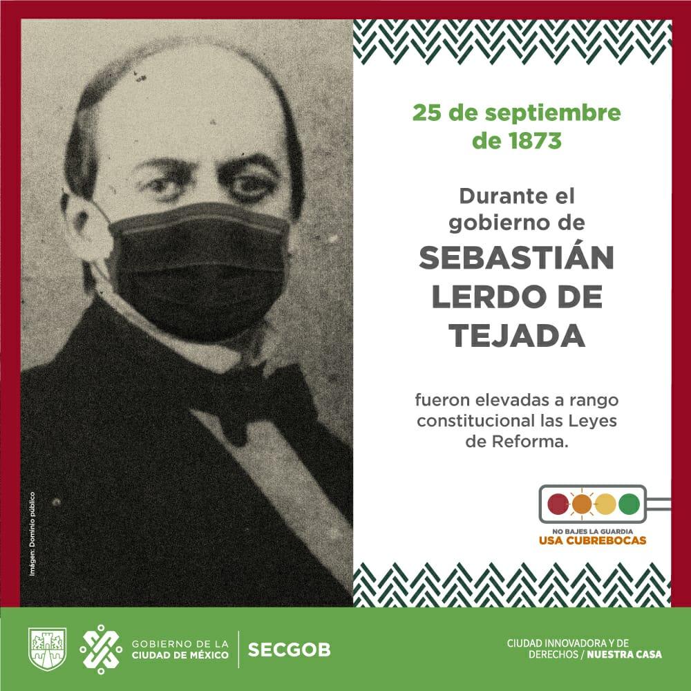 #NuestraCasa conmemora la inserción de las Leyes de Reforma a la Constitución liberal de 1857, iniciativa del presidente Lerdo de Tejada en homenaje a Don Benito Juárez y a los constituyentes.