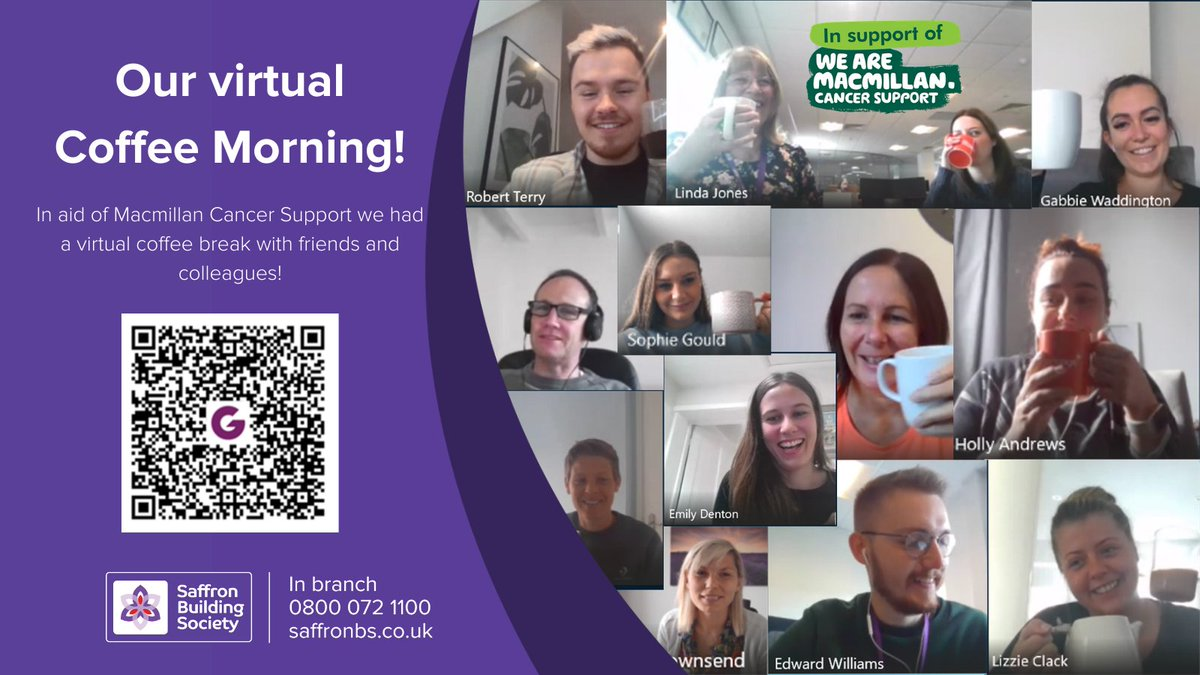 In aid of Macmillan Cancer Support, colleagues from across the Society had a coffee break to catch up with friends and co-workers! If you wish to join us in donating £2 to Macmillan, simply scan the QR code provided or follow this link: ow.ly/OZnc50BBgzo