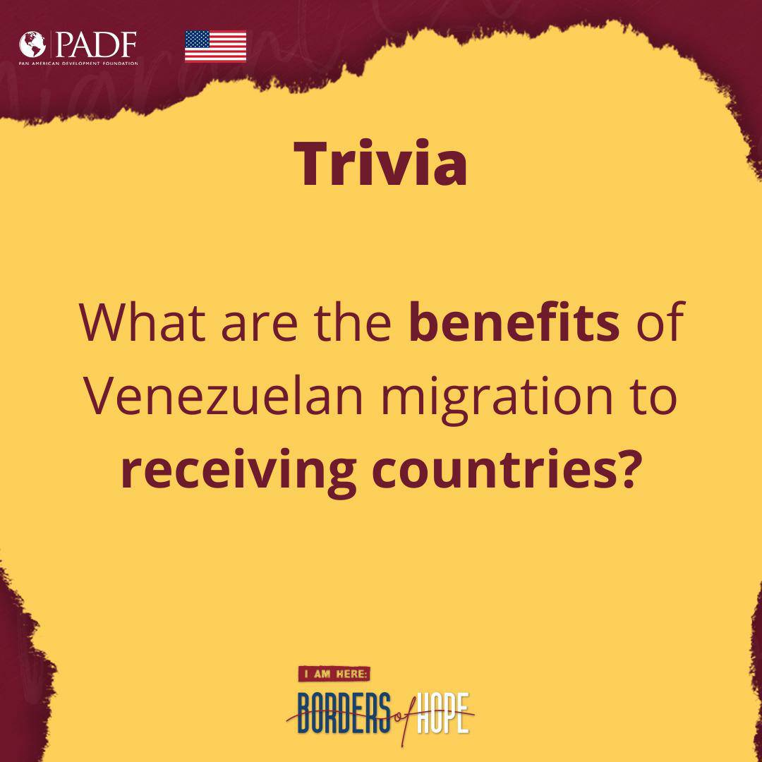 App. 5.1 million migrants have left Venezuela in hopes of improved living  Do you think you know the benefits of migration to the receiving country? ⠀ Correct answer will be posted at 3pm  #trivia #poll #humanrights #humanity #migrants #refugees #solidarity #UNHCR https://t.co/ZaVpcykdSQ