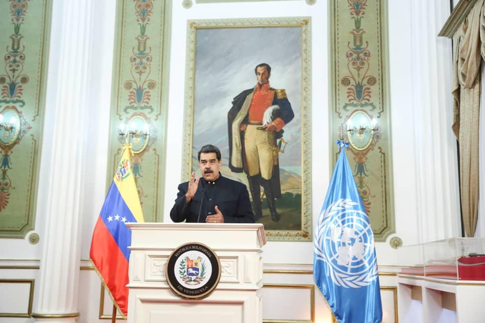 📢¡𝐀𝐬í 𝐥𝐨 𝐃𝐢𝐣𝐨!🇻🇪 Pdte. @NicolasMaduro: Venezuela ratifica su compromiso con la solución pacífica de las controversias, y reitera su estricto apego al Acuerdo de Ginebra de 1966. #VenezuelaGarantíaDeDDHH https://t.co/hs0mrymXDs