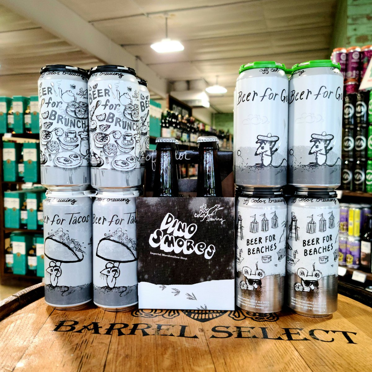 We are thrilled to have @OffcolorBrewing out of Chicago back on our shelves!  #ILbeer #beerforbrunch #berlinerweisse #beerfortacos #gose #dinesmores #russianimperialstout #beerforgolf #witbeer #beerforbeaches https://t.co/UPW7CEjZb4