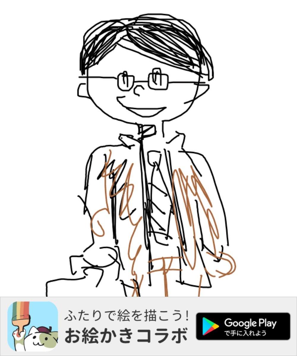 アプリで「サラリーマン」の絵を描いたよ! #お絵かきコラボ #私は体担当
