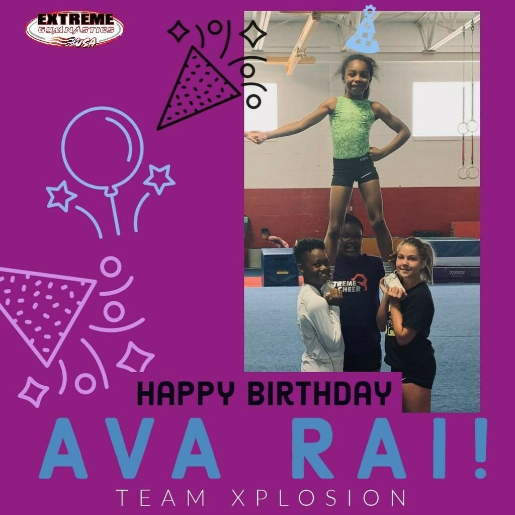 Happy Birthday to one of Team Xplosion's flyers Ava Rai! 🥳 Have a great day! 🎉  #ExtremeGymnasticsUSA #ExtremeGymnastics #ExtremeBirthday #HappyBirthday #HappyBday #Happy #Birthday #Birthyay #Bday #BdayGirl #BirthdayGirl #Cheerleader #Cheerleading #C… https://t.co/dyWPKVz0ys https://t.co/8KYlwHZXAG