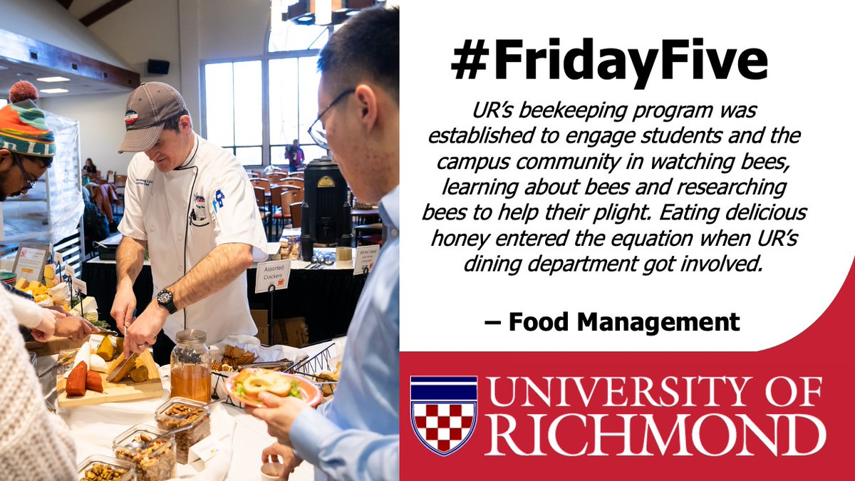 From internationally inspired dinners to meals that teach students a/b the importance of bees, @URDining is a collaborative partner on campus. This @foodmanagement piece highlights a collaboration between Dining Services & UR's Beekeeping Program. https://t.co/7RMysCkFlK https://t.co/Gvw9gzoE81