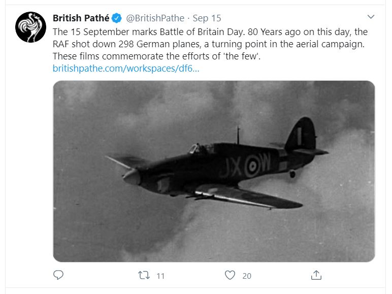 12 #NVHOW20 But now, with so much digitised footage, the extent of sharing out of context has become unprecedented. Recent anniversaries such as #BoB80 and #VEDay75 are examples of how newsreel footage (some created as propaganda) still permeates the national consciousness today. https://t.co/AvcOtyHcI3